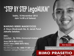 Legal4UKM Workshop
